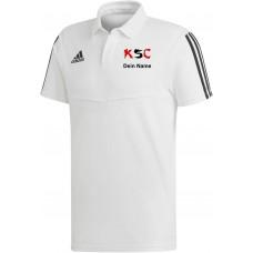 KSC adidas Polo weiß
