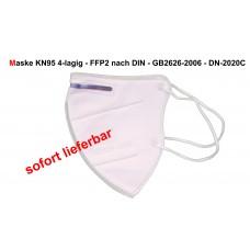 Actika KN95/FFP2 wiederverwendbare 4 schichtige Feinstaubmaske Mund-Nasen-Schutz