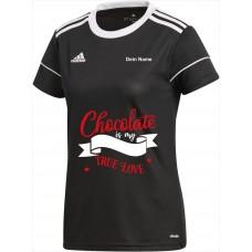 Original adidas Premium Shirt  Damen -Chocolate is my true Love-