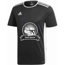 """adidas T-Shirt/Jersey schwarz mit Motiv """"VW Bulli Highlight"""" und deinem Namen"""