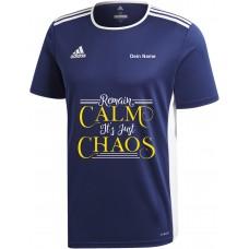 Original adidas Premium T-Shirt -Remain Calm its just Chaos- blau
