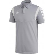 adidas Tiro 19 Cotton Polo grau-weiß