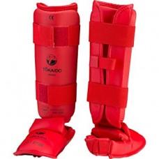 Tokaido Fuß/Schienbeinschutz WKF Zugelassen rot